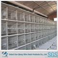 Pieghevole animale gabbia, matel filo della rete metallica di coniglio gabbie, facile pulire gabbia di conigli per la vendita