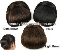 Fashion Women claw clip ponytail hairpieces synthetic hair scrunchies fake hair bun