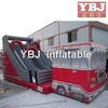 high quality fire truck inflatable water slide