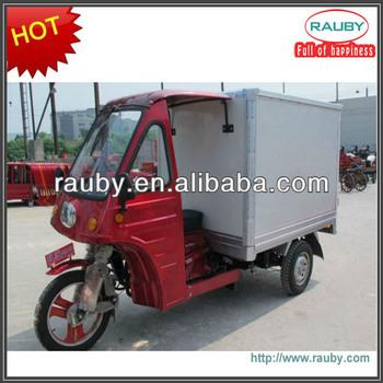 Gasoline 200cc cargo trike with closed body