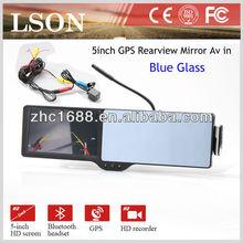 5inch car gps mirror
