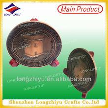 custom bronze medal cooper medallion big Coin display stander
