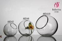 Round Incline Clear Glass Vase AH342-AH346-AH3410