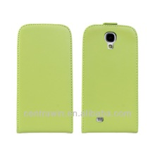 Genuine smooth leather case for Samsung Galaxy S4 I9500 luxury leather flip cover for i9500