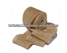 elastic packaging satin 100% jute ribbon bow