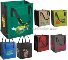 Laminated tote bag with front pocket non woven Grocery bag,for promotion shopping bag