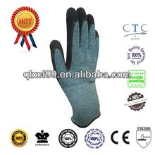 QL EN388 Kevlar gloves latex coated Anti-cut level 5 metal safety