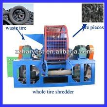 China tire crusher/ tire recycling machine /tire shredder manufacturing line