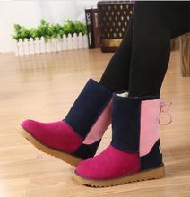 #046 2014 Winter cheap super warm women shoe women snow boot three colors