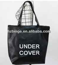 Simple printing students bag PU school bags for Teenager wholesale