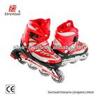 kid bright red roller skates quad