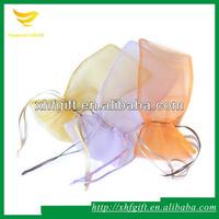 Ribbon drawstring mesh packing bag for gift