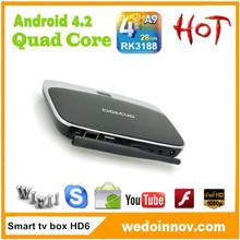 Rockchip 3188 Quad Core RAM 2GB, ROM 8GB Dlan Wifi remote control android 4.2 quad core bluetooth cs918 tv box