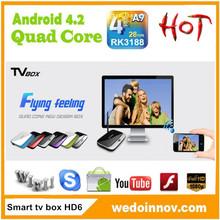 CS918 Andorid 4.2 1.8GHz 2GB RAM 8GB ROM WIFI HDMI Stick Rj45 Internet Smart TV Box With Remote cs918 rk3188 quad core