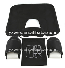 Black jersey material Airline travel kit set