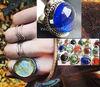 Gem glass Rings, assorted colors adjustable Inkasecrets Peru
