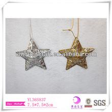 vintage outdoor xmas decorations pierced golden&silver star