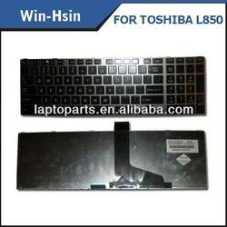 Brand new original laptop keyboard for toshiba c850 notebook keyboard