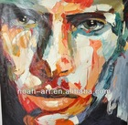 Heavy Texture Knife Oil Painting of Modern Abstract Face