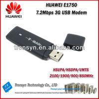 Original Unlock HSDPA 7.2Mbps huawei hsupa usb modem e1750 3G Sim Card Dongle And 3G Data Card