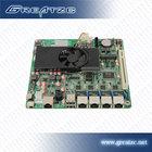 ZC-M254L 4 Lan Motherboard Computer Motherboard With 4 Intel Lan Card Fan&Fanless DC 12V 4 Gigabit Firewall Mainboard