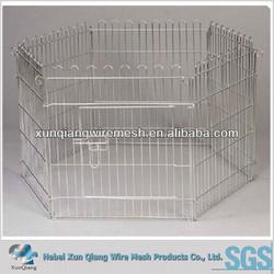 Stailnless steel/powder coated wire welded dog run kennel