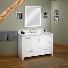 antique white solid wood corner bathroom cabinet