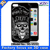 2015 skull design 3D case for iphone 5C, wholesale skull case for iphone 5