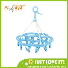 18 Pegs flower shape hanger plastic clothes rack,clothes drying rack,plastic clothes drying rack