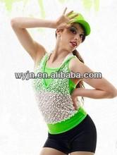 2014-new teen hip-pop dance dress-good girls hip-pop dance skirt wear---listen child&adults hip-pop dance costume