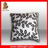 Faux Suede Plain Color Sofa Cushion Cover Leaf Printed Cushioning