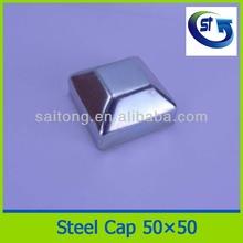 Pressed steel cap