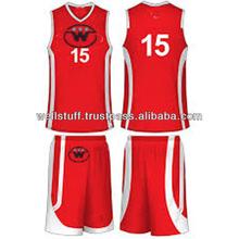 Men's custom sublimated basketball uniform