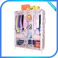 chinês mobília do quarto folding roupeiro tecido loja de roupa barata