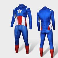 Captain America long sleeve Cycling shirt