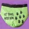 foldable pet travel water bowl