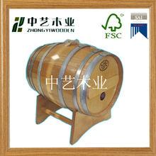 Handmade used wood beer keg