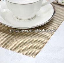 PVC/Polyester mat /jacquard weave placemat