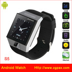 Android watch ZGPAX S5 android wifi hand watch mobile phone price