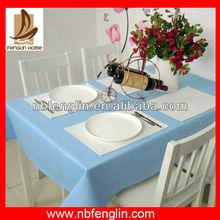 Light Blue 100% Cotton Table Cloth 145X185cm