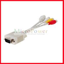 VGA Male to S-Video / RCA / AV / TV Female Converter Cable
