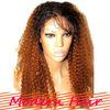 "Free shipping Brazilian lace front wigs two tone 1B/#30 130% density 22"" unprocessed virgin Brazilian hair front lace wigs"