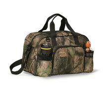 Designer Wildstar Camo 600D Polyester Sport Duffle Bag With Bottle Pocket