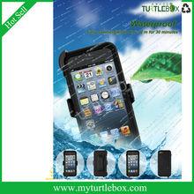 OEM plastic simple design decorate TPU mobile phone case for Iphone 5/5s Black white color IP68 Test