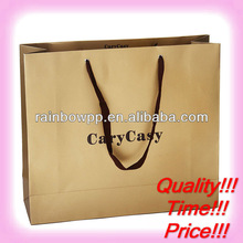 fancy logo printing paper shopping bags with customized order