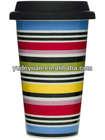 new bone china porcelain mug with lid