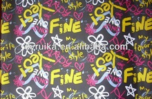 Micro polyester printed brushed textile fabric from China