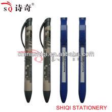 Promotional plastic window message ballpoint pen