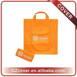 Custom made printable foldable recycle bag with outside pocket