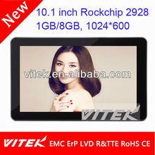 Cheap wifi rockchips 2928 1.2ghz 10.1'' tablet pc